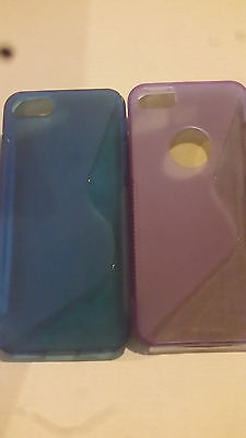 2 * S Curve Gel Case for iPhone 5 Blue and Purple