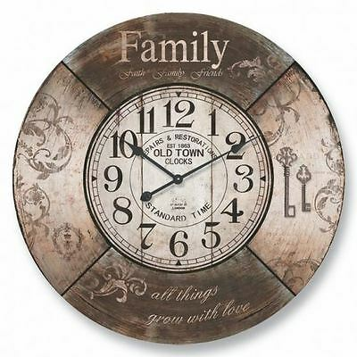 New 60cm Round Wall Clock Family Clock Xmas Gift Home Decor