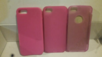 3 * Pink Gel Case for iPhone 5