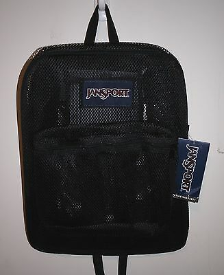 JANSPORT MESH PACK BLACK BACKPACK 100% AUTHENTIC **BRAND NEW w/TAG!!