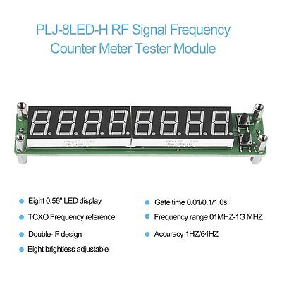 PLJ-8LED-H RF Signal Frequency Counter Meter Tester Module LED/Screen DS