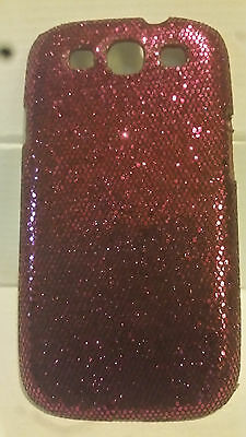 3 Pack Bling Red, Black and Gold Hard Shell Back Case for Samsung Galaxy S3