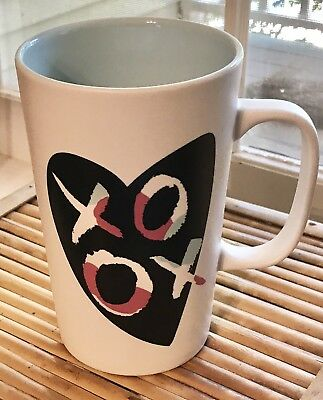 STARBUCKS XOXO Coffee Mug Cup 2015 Black Heart  16 oz.