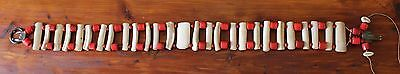 Very Rare And Very Old Small Animal Tribal Bone / Beads Belt Nr