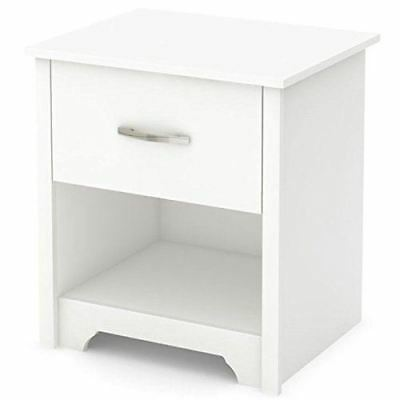 South Shore Furniture Fusion Night Stand, Pure White