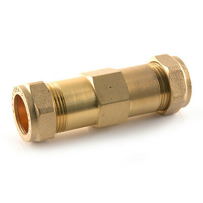 15mm X 125mm Compression Brass Repair Coupling Straight Plumbing Water Burst