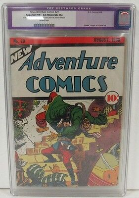 New Adventure Comics 1938 DC Golden Age CGC 8.5 Restored 2nd Highest Graded R482