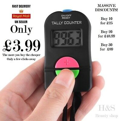 Hand Held Electronic Digital Tally Counter Clicker Security Sports Gym School UK