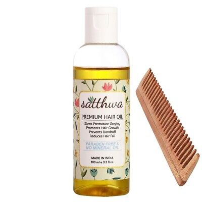 Satthwa Premium Hair Oil (100ml)-Combination of 9 Premium Oils-  Free Shipping