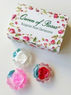 ROSE AROMATIC SOAP bar 3pcs 20g small gift souvenir wedding , different colors