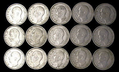 Lot of 15 - 1940 Bulgaria 50 Lepta some high grade
