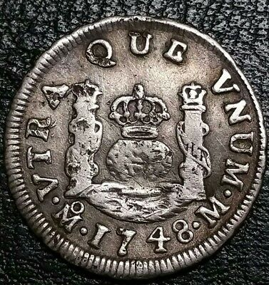 1740 Mexico 1 Real King Philip V Milled Pillar Piece Of Eight World Silver Coin