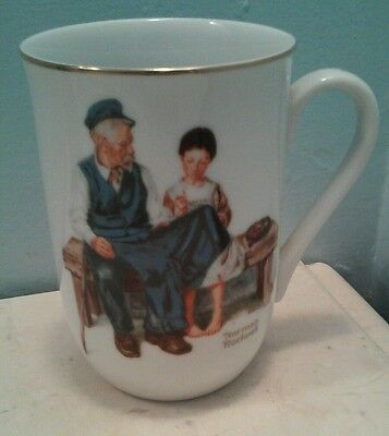 """Norman Rockwell Coffee Mug- """"Lighthouse Keeper's Daughter""""- From Rockwell Museum"""