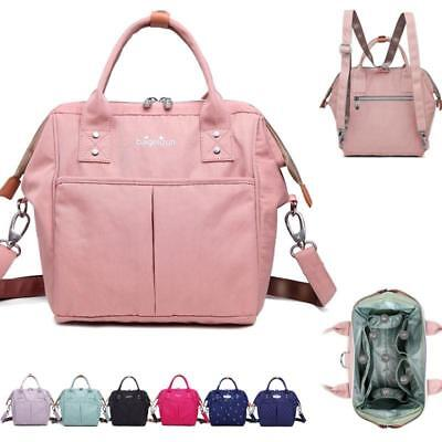 Small Convertible Water Resistant Baby Diaper Bag Backpack Changing Shoulder Bag