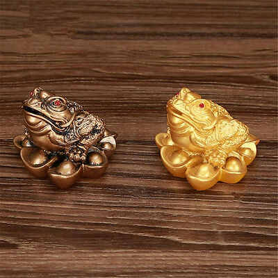 5.0*4.5cm Feng Shui Money Lucky Oriental Chinese Ching Frog Toad Coin Home Decor