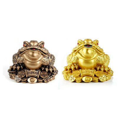 5.5*4.8cm Money Lucky Fortune Ching Frog Toad Coin Home Tabletop Feng Shui Decor