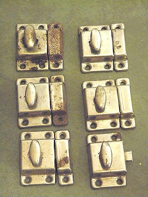 6 Antique Shabby Chippy Chic Shaker Style Cabinet Cupboard Door Locks Latches