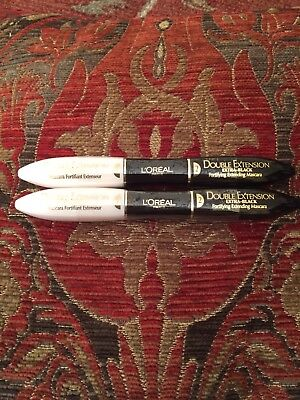 L'oreal  double extensions Extra Black mascaras Full size X 2 P&P Free