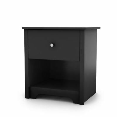 South Shore Furniture Vito Collection, Night Stand, Black