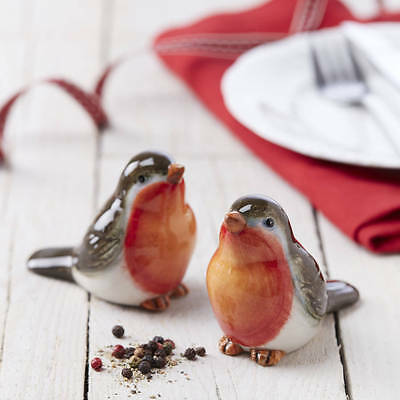 Robin Salt and Pepper Shakers, by Gisela Graham, great gift for all who love Rob