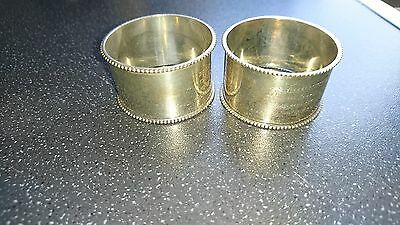 solid Silver napkin rings
