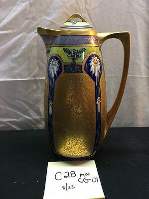 Rare Antique Hand painted Gorgeous One Of The Kind Pitcher Home De