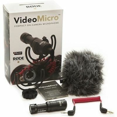 Rode VideoMicro Compact On-Camera Microphone Video Micro Mic On Camera - NEW!
