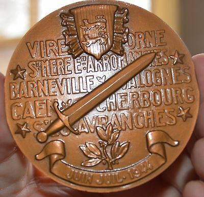 Allied 1944 Victory In Normandy Bronze Medal Frech 68Mm D Day