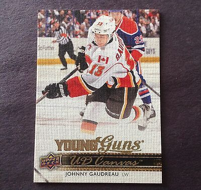 2014-15 Upper Deck Johnny Gaudreau Young Guns Canvas Rookie Card C96 Series 1 RC