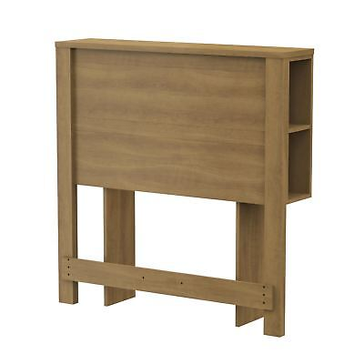 South Shore Fynn Collection Twin Size Harvest Maple Headboard with Storage