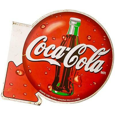 Vintage Coca Cola Double-Sided Metal Advertising Sign