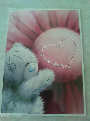 """Carte double + enveloppe Me to you """"je t'adore"""" ourson coeur Neuf"""