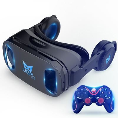 U8 VR Glasses 3D IMAX Virtual Reality Helmet 3D Movie Games With Headphone + Blu