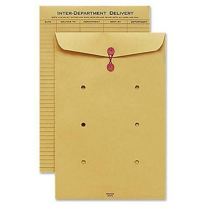 "Sparco Inter-Department Envelope, String Closure, 10""x15"", Kraft 01376"