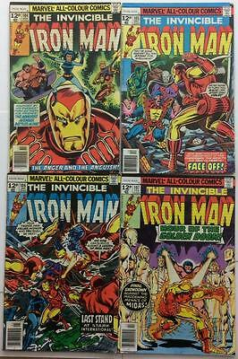 Iron Man #104,105,106 & 107 1st series (1977 Marvel) 4 x Bronze Age issues