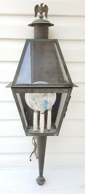 Vintage Copper Porch Outdoor Sconce Light Fixture Colonial Eagle