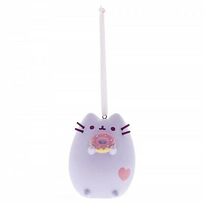 Pusheen Purple Pastel with Donut Christmas Hanging Ornament
