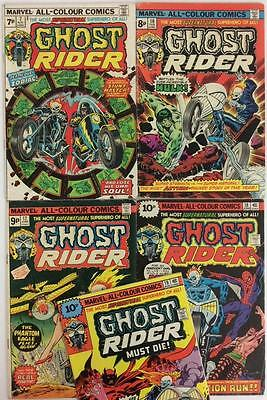 Ghost Rider Bronze Age Bundle. 5 x issues #7,10,12,18 & 19 (Marvel 1974)