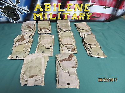 10 US Military Double Mag M4 Pouch Desert Camo Molle 30 Round 5.56 Ammo Pouch