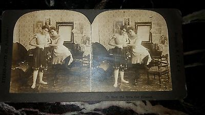 Set of 2 Antique Stereoview Photo Cards Late 1800's or Early 1900's RARE