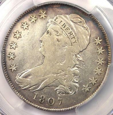 1807 Small Stars Variety Capped Bust Half Dollar 50C Coin - PCGS Fine Details!