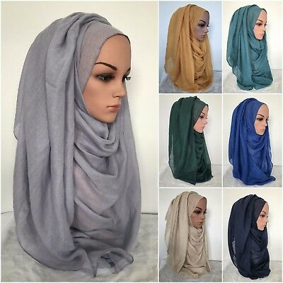 MAXI VISCOSE  Long Wide Plain Scarf  Unstitched Rectangle 36 colors 170 x 80cm