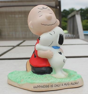 Hallmark Peanuts Gallery Snoopy and Charlie Brown Happiness Is Only A Hug Away