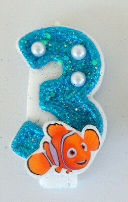 Nemo Birthday Candle. Finding Nemo  candle cake topper, cupcake topper