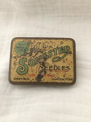 Vintage Songster 200 Medium Tone Needles Tin