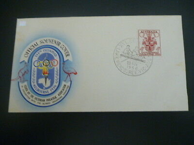 australia 1956 official souvenir melbourne olympics fdc ROWING cancel