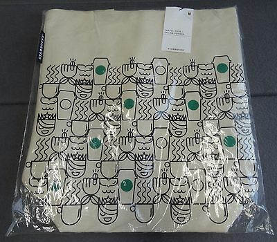 NEW Starbuck Canvas Travel Tote Shopping Bag Grocery Reusable Sac De Voyage