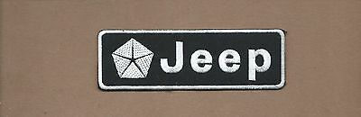 New 1 1/2 X 4 3/8 Inch Jeep Iron On Patch Free Shipping