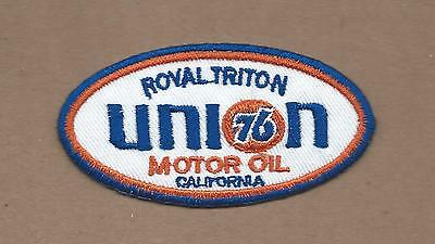New 1 3/4 X 3 3/8 Inch Union 76 Motor Oil Iron On Patch Free Shipping