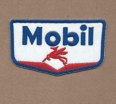 New 1 3/4 X 3 Inch Mobil Gas Iron On Patch Free Shipping
